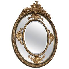 Louis XVI Style Parcel-Gilt Mirror