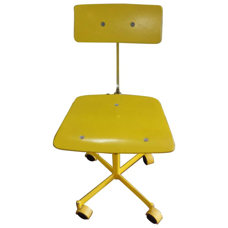 Brilliant Yellow Kevi Armless Fully Adjustable Desk Chair
