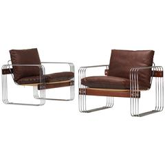 Pair of Ascona Lounge Chairs by Heinz Meier for Landes
