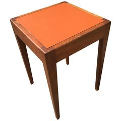 Walnut and Laminate Side Table by Orin Raphael for Design Industries
