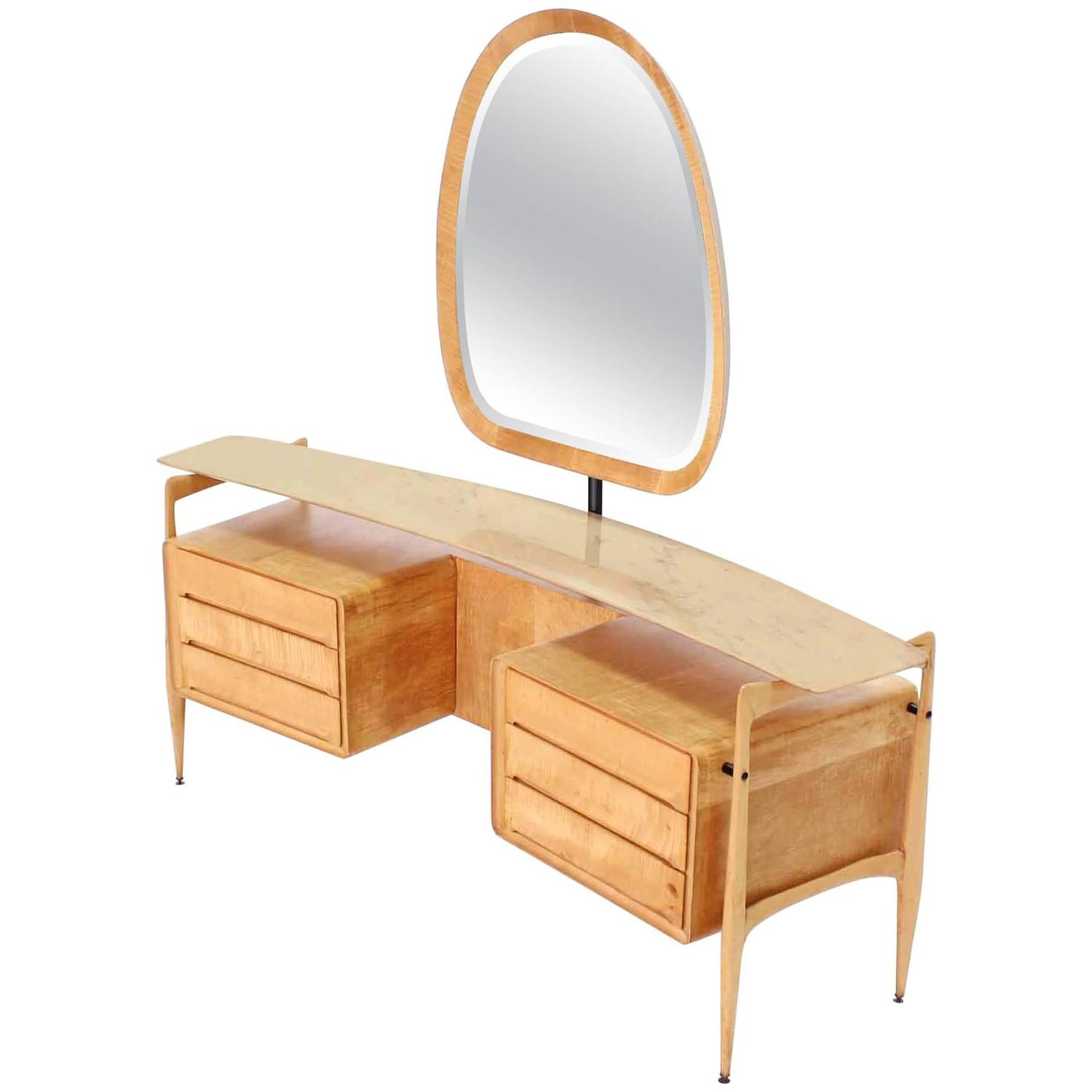 Mid century italian modern vanity dressing table for sale at 1stdibs - Modern bathroom dressing table ...