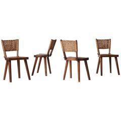 Jean Touret Dining Chairs for Atelier Marolles, France