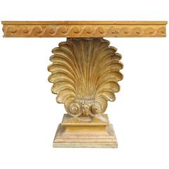 Neoclassical 1930s Edward Wormley for Dunbar Carved Shell Console Table