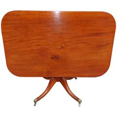 Scottish Mahogany One Board Top Breakfast Table, Circa 1810