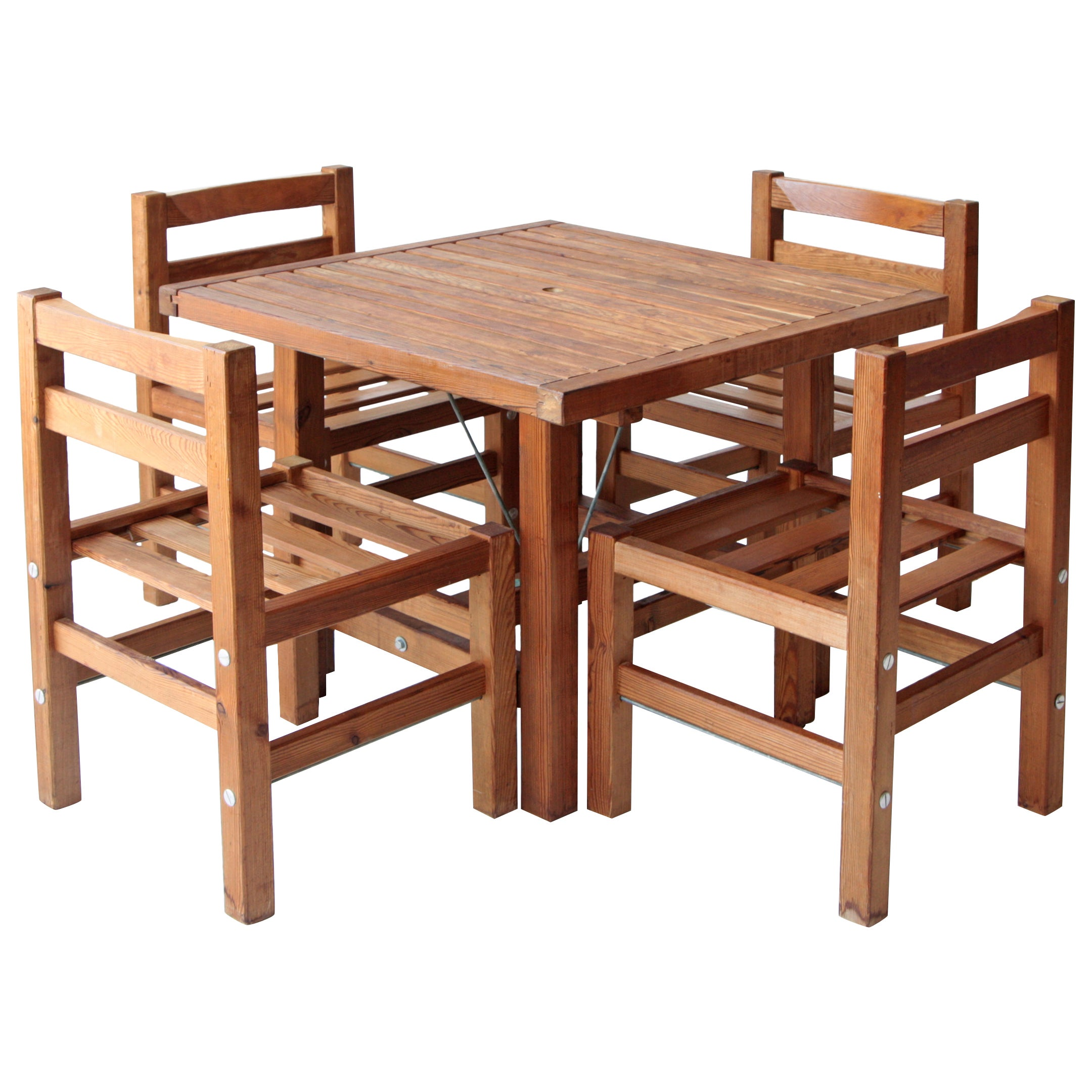 Elsa Stackelberg Redwood Patio Set, Sweden At 1stdibs