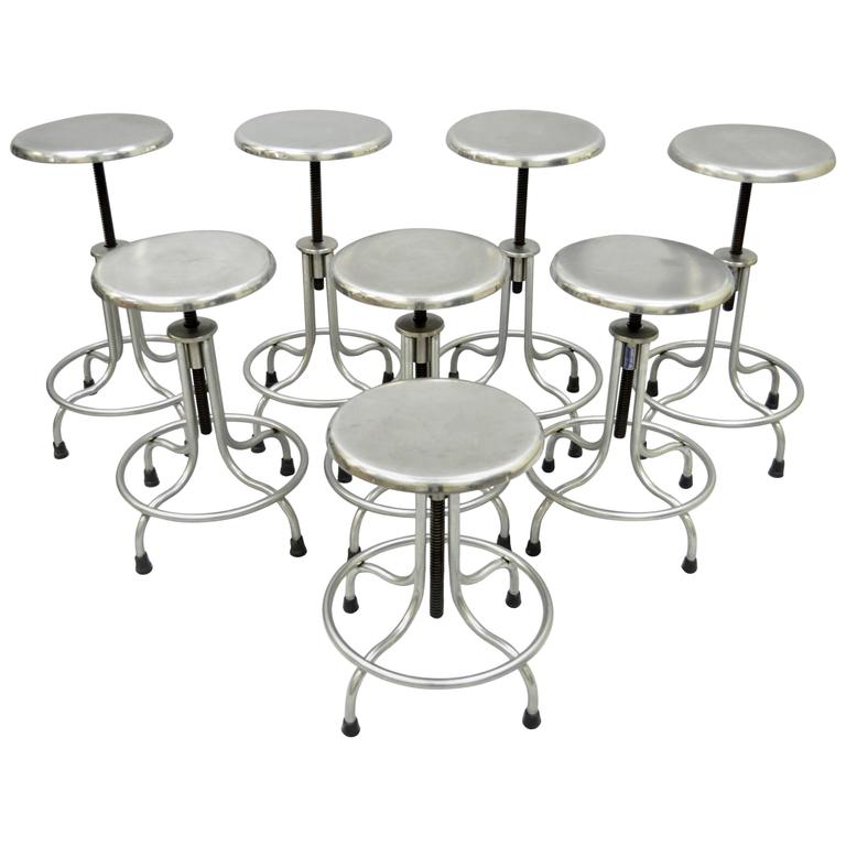 Set of Eight Stainless Steel American Industrial Modern  : 4569403l from www.1stdibs.com size 768 x 768 jpeg 42kB