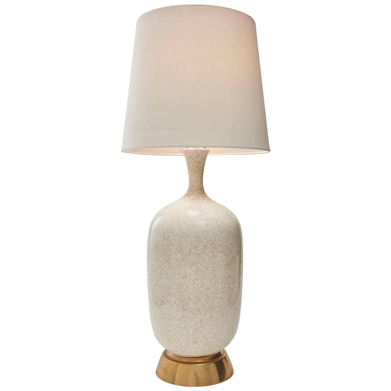 Oversized Mid Century Vase Shaped Ceramic Table Lamp