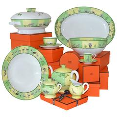 Hermès Porcelain China Service for Eight