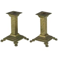 Antique Brass Aesthetic Period Candlesticks