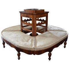 Italian Neoclassic Walnut & Walnut Veneer, Interior Table, 19th Century