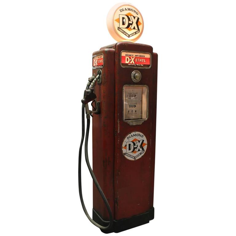1950s American Gas Pump By Wayne For Sale At 1stdibs
