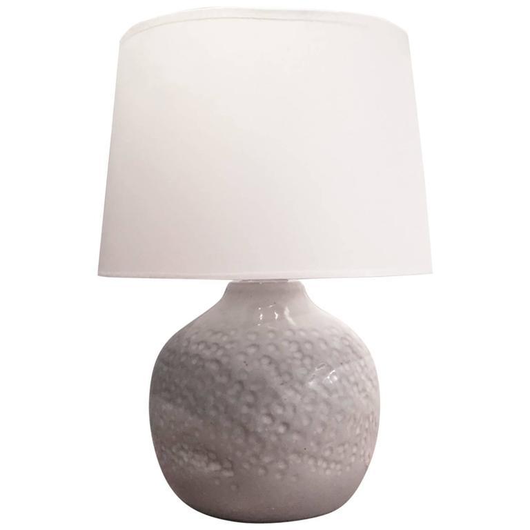 Marshall Studios Lamp In White Ceramic Usa 1960s At 1stdibs