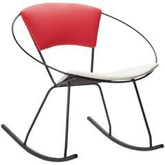 Mid-Century Outdoor Rocking Hoop Chair