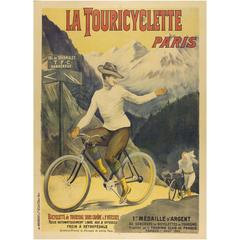 Original Poster Ad for the Touricyclette Bicycle, Paris