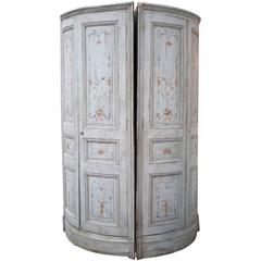 Pair of 19th Century French Painted Corner Cabinets