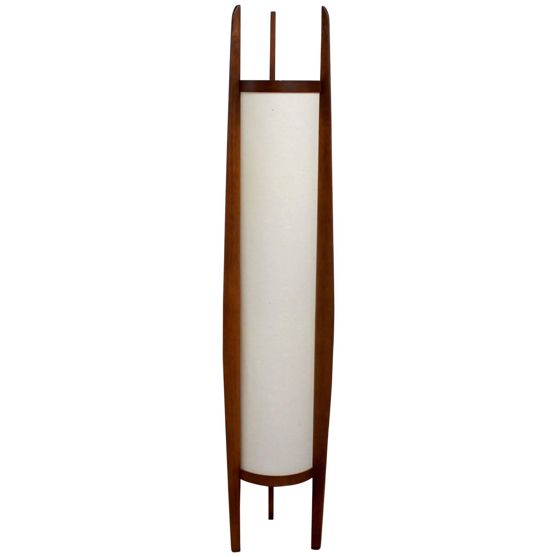 1960s Danish Modern Sculptural Teak Modeline Floor Lamp At
