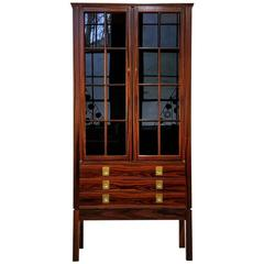 Rosewood Lighted Curio Cabinet by Torbjørn Afdal, Norway, 1960s