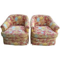 Pair of Henredon Club Chairs