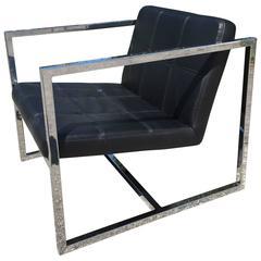 Milo Baughman Style Modern Chair