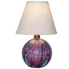 Vintage Murano Bullicante Glass Table Lamp
