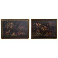 Pair of 19th Century Framed Spanish Fruit Paintings