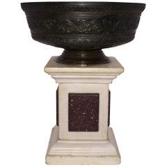 Italian Neoclassical Bronze Bowl, Probably Ferrara, 19th Century