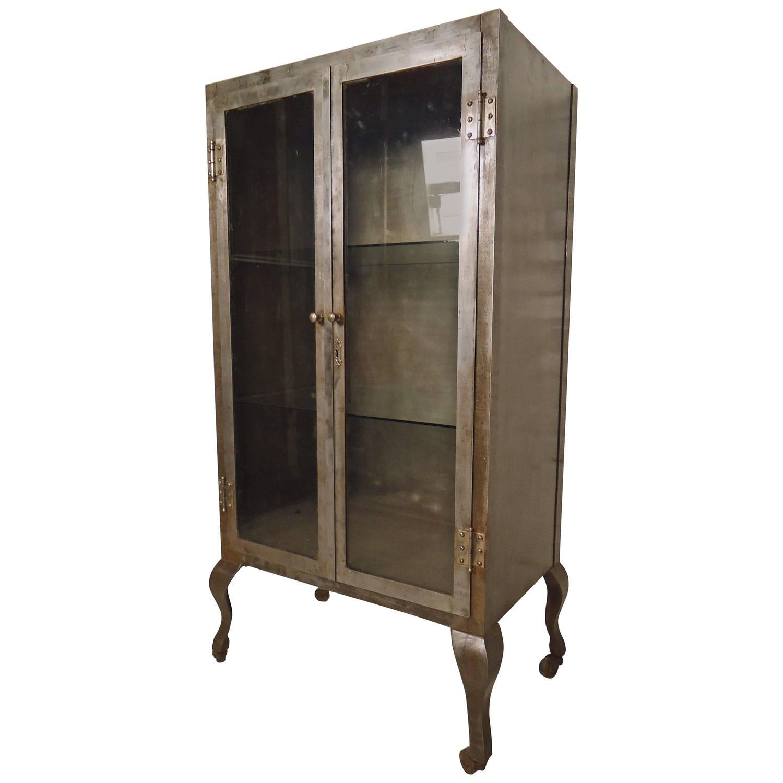 Large Vintage Medical Cabinet At 1stdibs