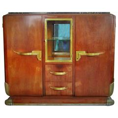 Rosewood Art Deco Showcase Sideboard, France, 1935