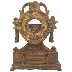 Mid-18th Century Carved Giltwood Watch Holder