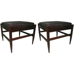 Pair of Danish Mid-Century Modern Footstools or Ottomans