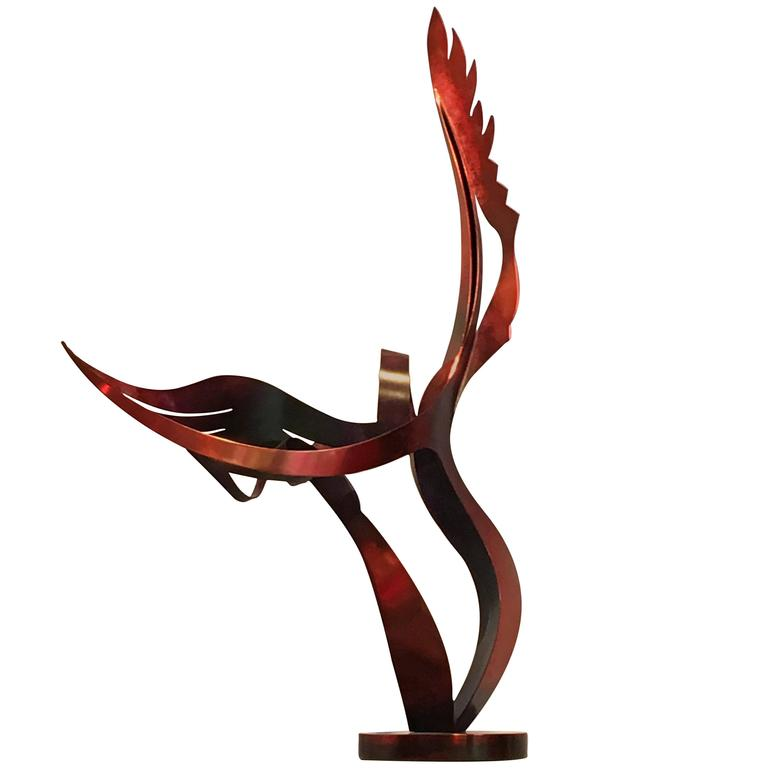 "Sculpture ""The Dance of the Cranes"", patinated Bronze by John Raimondi"
