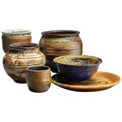 Gene Caples Collection of Six Ceramic Pieces, USA, 1960s