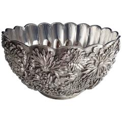 Chrysanthemum by Tiffany & Co Sterling Silver Punch Bowl Exceptional