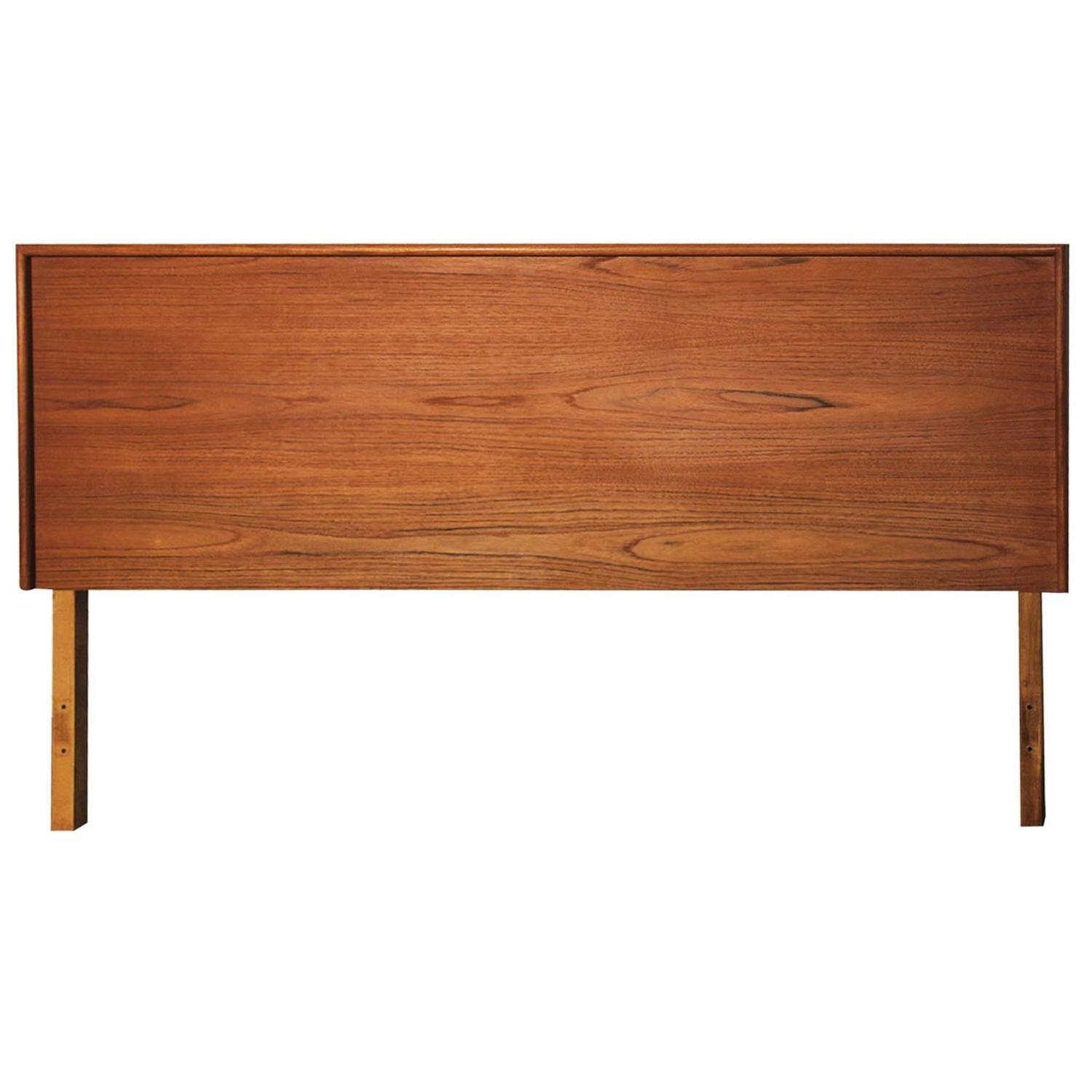 danish mid century modern queen size teak headboard at 1stdibs. Black Bedroom Furniture Sets. Home Design Ideas
