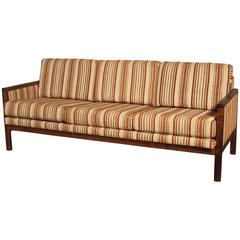 Mid Century Modern Walnut Trimmed Sofa