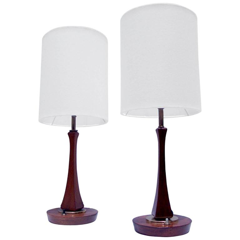 Pair of Mid-Century Modern Sculptural Table Lamps