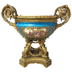 19th Century Sevres and Ormolu Comport