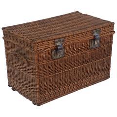 Large French Willow Basket Hamper