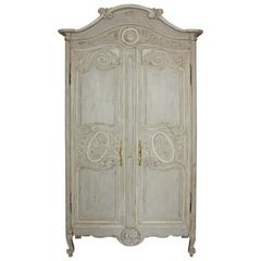 French 19th Century Painted Armoire