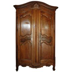 French Monumental Walnut Armoire