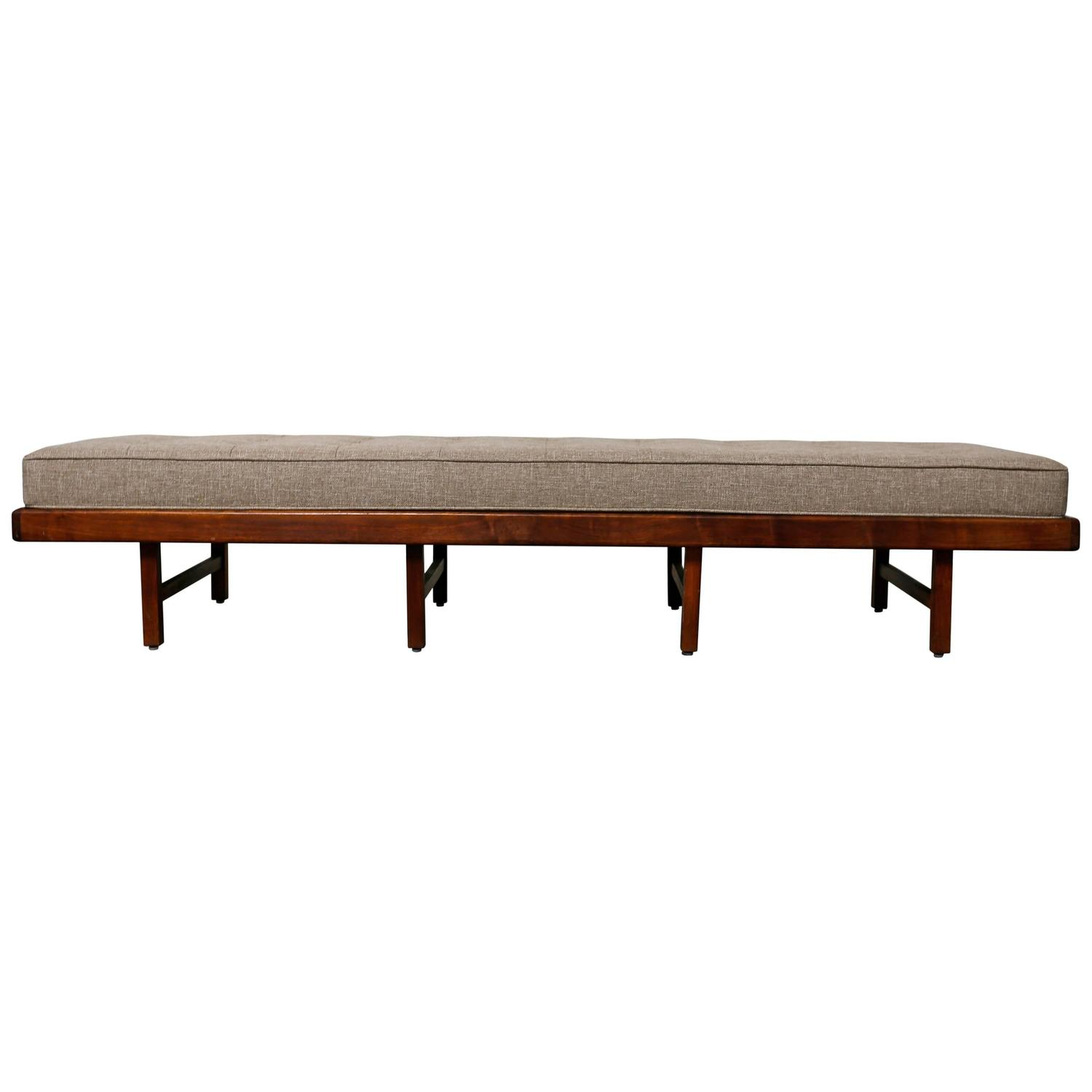 Long Studio Crafted Solid Walnut Bench At 1stdibs