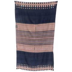 West Timor Tribal Cotton Ikat Textile, Fine Weave, 1950s