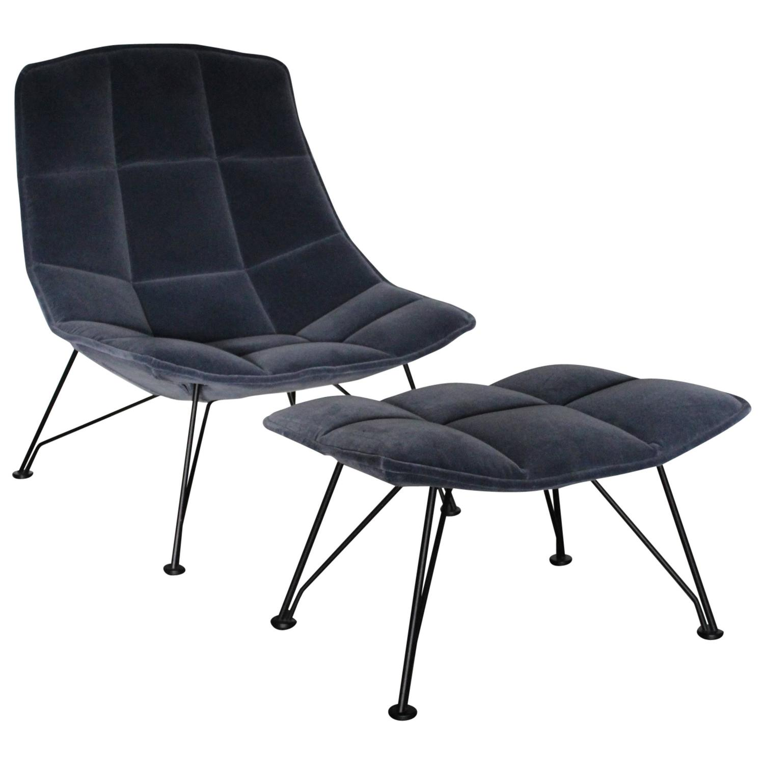"Knoll Studio ""Jehs Laub"" Lounge Chair and Ottoman in ""Marina"