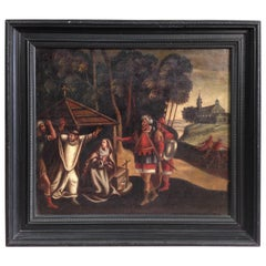 18th Century Oil on Canvas Painting