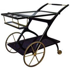 Italian Mid-Century Cesare Lacca Bar Cart