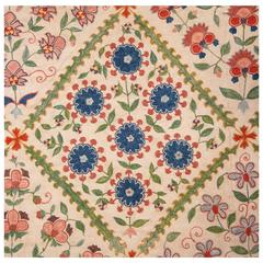 "Contemporary Uzbek Silk Embroidery ""On Cotton,"""