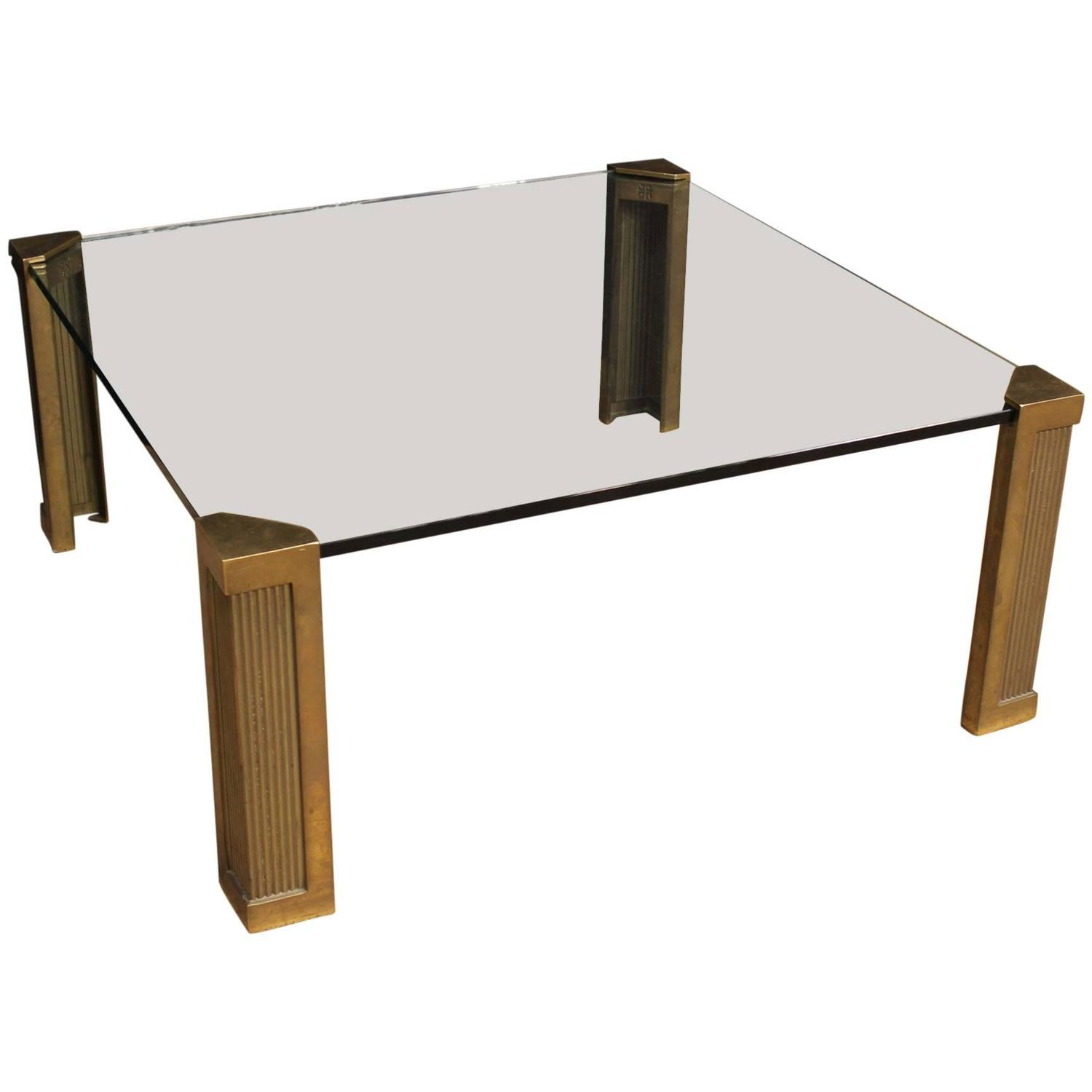 20th Century Coffee Table With Crystal Top At 1stdibs