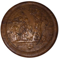 "19th Century Pressed Wood Snuff Box, ""L'amour..L'amitie"""