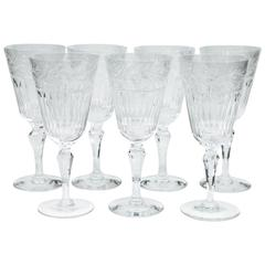 Asprey Crystal Wine Goblets