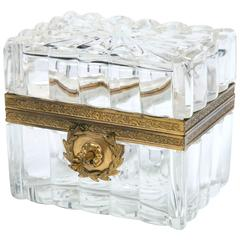 Cut Crystal and Bronze Box